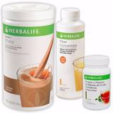 Kit Herbalife Shake, Chá Verde 100g, Fiber Concentrate 450ml