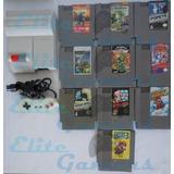 Nes Top Loader 10 Juegos Ninja Gaiden 3 Megaman, Flintstones