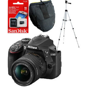 Nikon D3400 Kit 18-55 24mp Reflex Tripode+bolso+16gb 12cuota