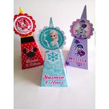 Cone Pirâmide Personalizado Frozen Minnie Todos Os Temas