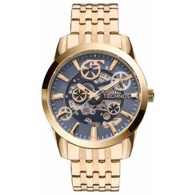 Relógio Technos Masculino Dourado Automático 8205nq/4a