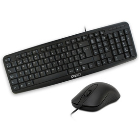 Combo Onset Teclado Y Mouse Con Cable Usb Tc400 Classic