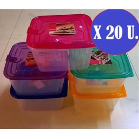 Tuppers Taper Plastico X 20u Hermatico Microonda Freeze 1100