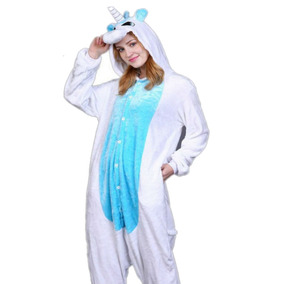 Pijamas Kigurumi Polar Unicornio Blanco Adultos Unisex R5591