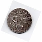 Medalla París Francia Plata 1904 Exposición Canina 4,5 Cm