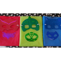 Capas Superheroes Y Pjmasks Friselina Con Antifaz