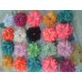 Flores De Tela 8cm Para Lazos Cintillos Manualidades