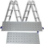 Escada 4x4 Com Plataforma Aço Multifuncional Mor 16 Degraus