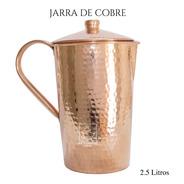 Jarra De Cobre Con Tapa Artesanal