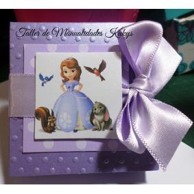 Invitaciones Princesa Sofia Con Jaboncitos