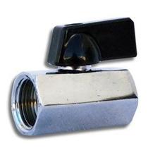 Mini Válvula Esfera 1/4 Femea - Femea Latão Rosca Bsp