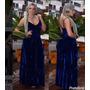 Vestido Longo Veludo Molhado C/bojo Festa Madrinha Casamento