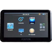 Gps Foston Fs3d710dt 7 Polegadas Transmissor Fm Tv Digtal 4g