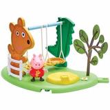 Peppa Pig Playset C Figura Y Accesorios Hamaca Tv Educando