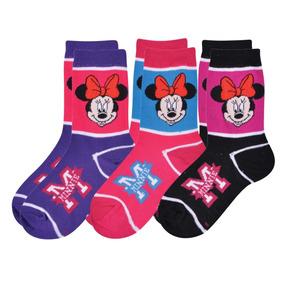 Medias Disney Minnie Mouse Footy - Precio Por Par De Medias