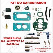 Kit Carburado Weber 460 Gasolina Chevette 1.6 S C/gicleur