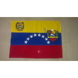 Bandera De Venezuela Con Escudo Y Punta De Asta(combo)