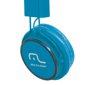 Headphone Fun Com Microfone Ph089 Multilaser Azul