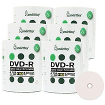 600pcs Dvd-r Smartbuy Printable 16x 4.7gb Midia Virgem