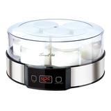 Yogurtera Smart Tek Ym750 Acero Inox Digital Vidrio Led 7 Fr