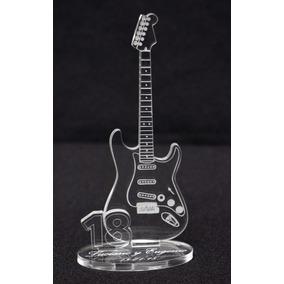 Souvenir Guitarra 15 Y 18 Años 12 X 5 Grab Láser En Acrilico