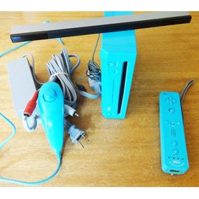 Wii Azul Con Chip Virtual Semiuevo 3 Emuladores 17 Juegos