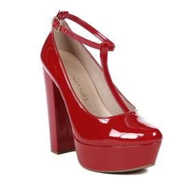 3dd88f8b1 Sapatos Femininos Scarpin Cor Principal Vermelho - Sapatos para ...