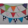 Banderines Y Guirnaldas De Tela Fiestas Cumpleaños Eventos