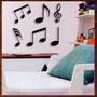 Kit De 6 Notas Musicais Mdf Escultura Parede Musical 25cm