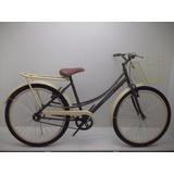 Bicicleta Aro26 Feminina Retro Cor Café Com Creme .