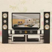 Hi-fi Tv Gabinete Conjunto Combinado Para Casa De Muñecas M
