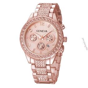 Reloj Geneva Ejecutivo 100 M Rosa Gold Envió Dhl