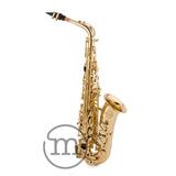 Saxofone Alto Laqueado Eb Milano Custom Sax Mi Com Case Loja