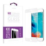 Vidrio Templado Completo Wefone Iphone 7 3d Blanco