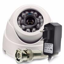 Camera Segurança Dome 1200 Linhas 50m Infra À Prova D