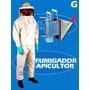 Roupa Calça E Blusa Apicultor Completa Em Brim G + Fumigador