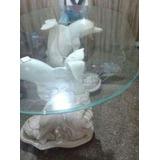 Vendo Mesa De Vidrio Con Base De Mármol En Forma De Delfín