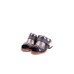 Sandalia - Zapato - Saverio Di Ricci - Color Peltre - Cuero