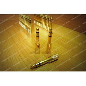 Plug Adaptador P2 / P10 Stereo Banhado A Ouro! Frete Fixo!
