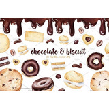 Kit Imprimible Chocolate & Biscuits Clipart