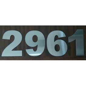 Números En Acero Inoxidable Esmerilado 12cm Arial Black