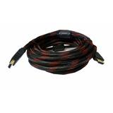 Cable Hdmi 15 Metros Premium Enmallado Doble Filtro