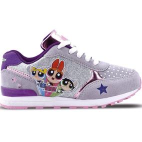 Zapatillas Chicas Superpoderosas Urbanas Footy Con Luces