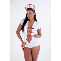 Fantasia Enfermeira Macacao Frete Gratis