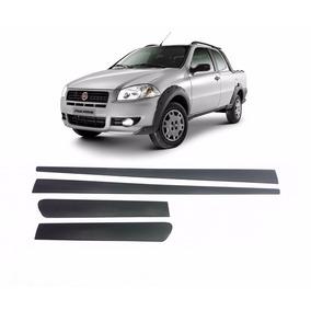 Kit Friso Lateral Borrachao Fiat Strada 2009 2010 2011 2012