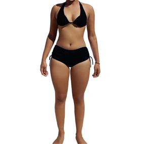 Biquini Com Bojo E Calcinha Shortinho Sunquini Praia Bikini