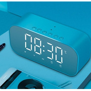 Caixa De Som Bluetooth Rádio Fm Relógio Despertador Espelho