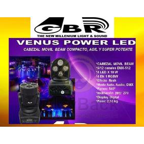 Cabezal Movil Venus Power Led Beam Rgbw 4 Led 10 Watts Gbr