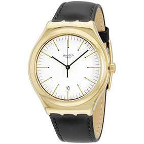 Swatch Hombres Edgy Time Irony Big Clásico Blanco Dial Negr
