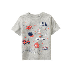 Gap Remera Usa Nene 3t